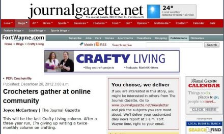 Crochetville Featured in Fort Wayne Journal Gazette