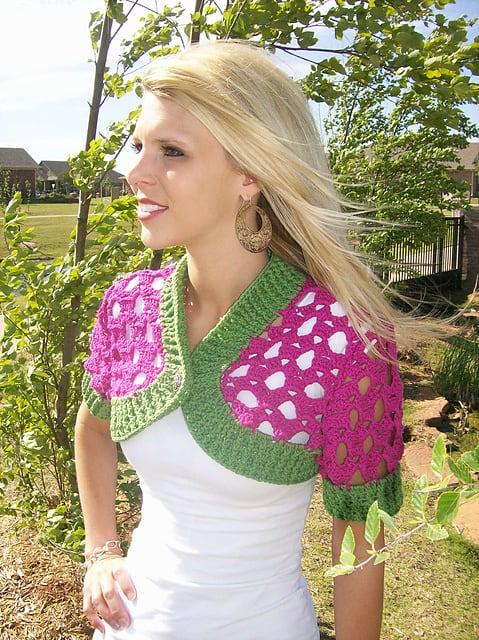 Beautiful Arches Bolero--National Crochet Month
