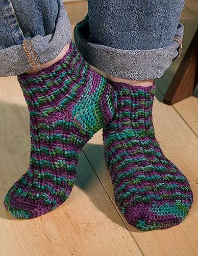 Fantasy Fair Isle Socks--National Crochet Month