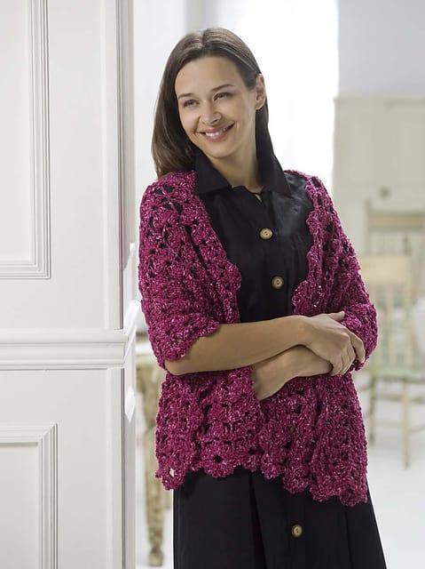 Crochet Sangria Shawl