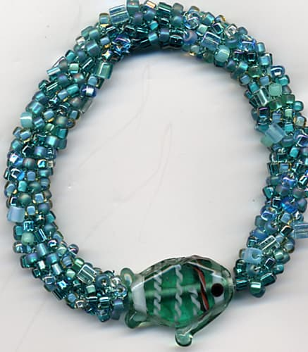 Bead Crochet Bangle Bracelet