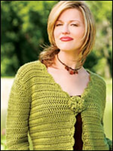 Spring Green Sweater-National Crochet Month