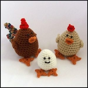 Chicken Family--National Crochet Month