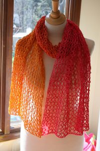 Sherbet Wrap--National Crochet Month