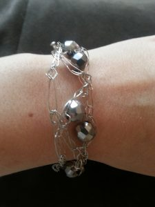 Beads and Triangles Bracelet