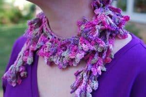 Flower Frills Scarf by Edie Eckman