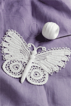 An Irish Crochet Butterfly