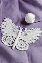 An Irish Crochet Butterfly