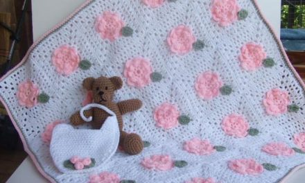Paid Crochet Pattern of the Day: Roses for Baby