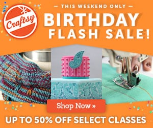 Craftsy Classes on Sale through May 11, 11:59 PM MT.