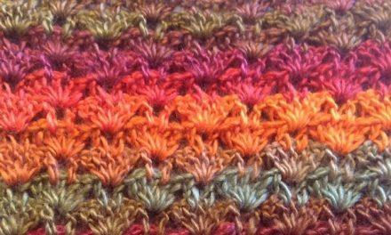 Crochet Stitch Tutorial: Fan Column with Free Scarf Pattern