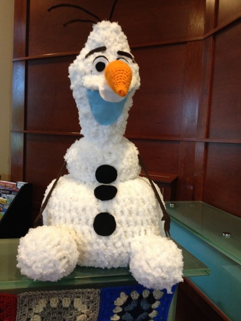 Snowman in Lobby