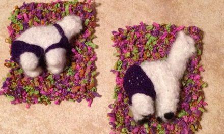 Small Stuffed Animal Beach Towel Crochet Pattern