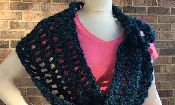 New Free Crochet Pattern Meandering Pathways Cowl