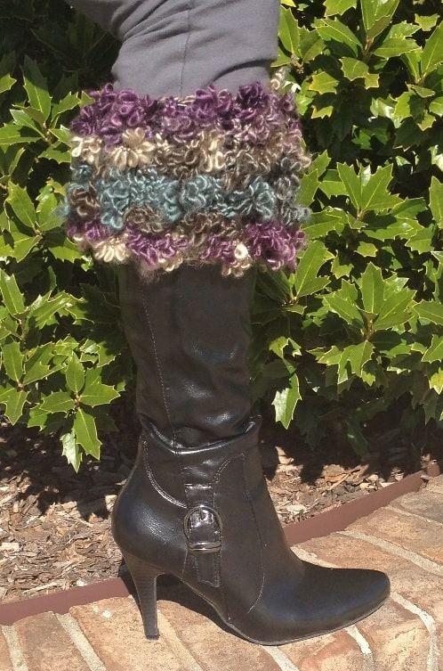 Floofy Boot Toppers with black boots
