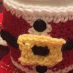 Santa Coffee Cup Cozy Free Crochet Pattern