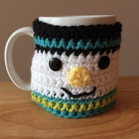 Snowman Coffee Cup Cozy