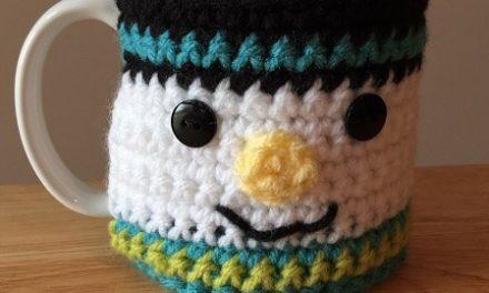 New Free Crochet Pattern Snowman Coffee Cup Cozy