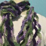 La Fantasie Violette Infinity Scarf Free Crochet Pattern