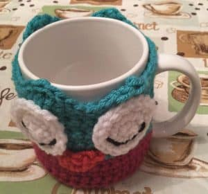Janus the Owl Coffee Cup Cozy Asleep