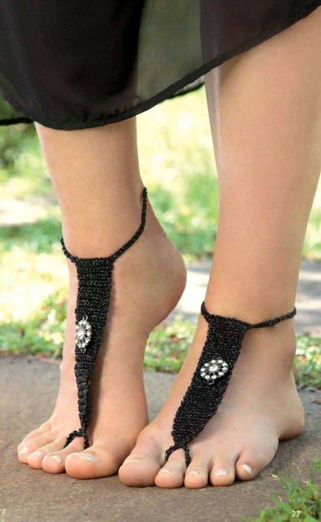 Black Barefoot Sandals
