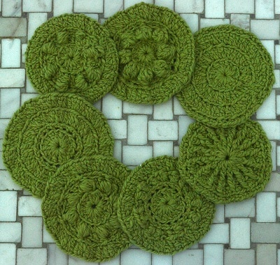 Seven Circular Summertime Scrubbies