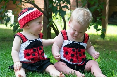 Scarlet Beetle Tank Top & Hat