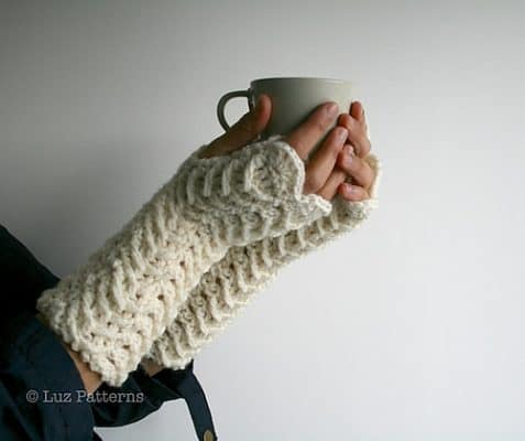 Lacy Fingerless Gloves 117 by Luz Mendoza
