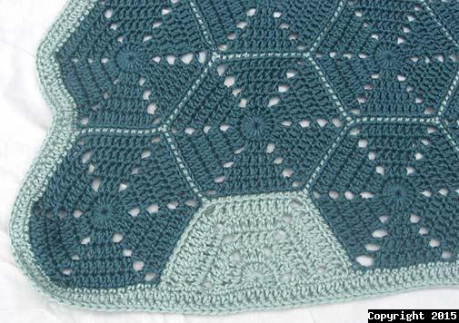 Hexagon Lapghan Crochet  Pattern