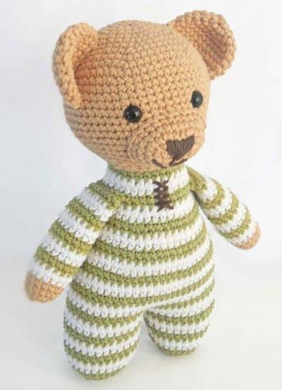 Photo of Theodore the Teddy Bear in Pajamas Amigurumi