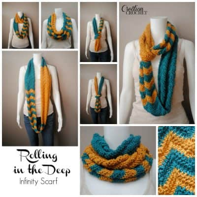 Rollilng in the Deep Infinity Scarf by Lorene Eppolite