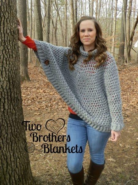 Paisley Poncho Sweater | Michelle Ferguson