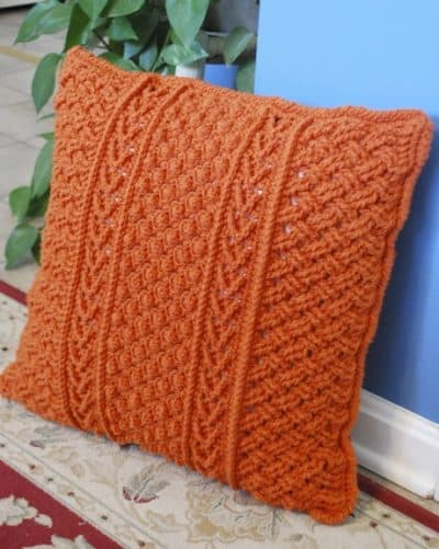 Orange-Aran-Pillow-Bonnie-Barker