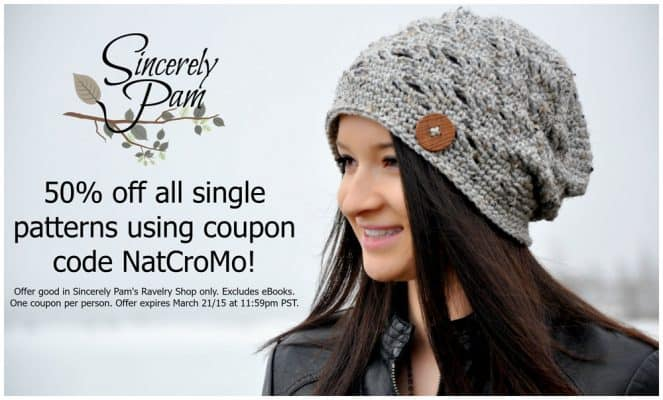 Photo of NatCroMo specials on Sincerely Pam