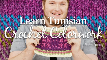Photo for Learn Tunisian Crochet Colorwork with Rohn Strong