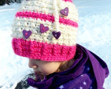 Floating Hearts Convertible Beanie | Sonya Blackstone