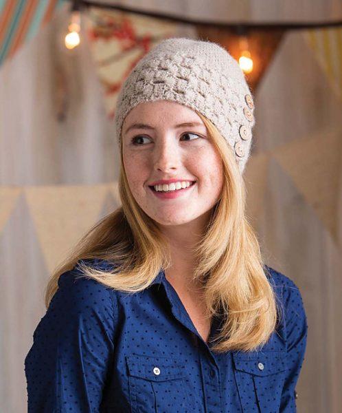 Buttons & Lace Hat