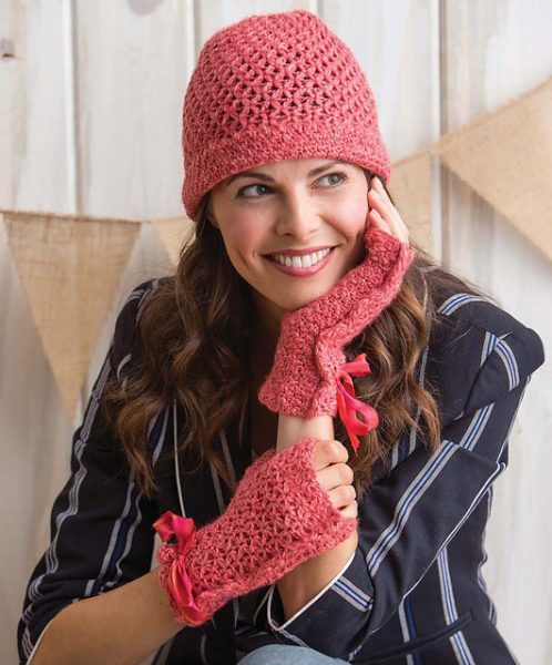Stellina Fingerless Mitts and Hat