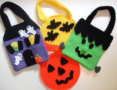 CV007_Halloween_Treat_Bags_Donna_Harelik_Crochet_Village