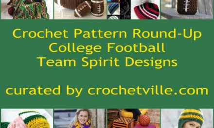 Crochet Pattern Round-Up: College Football Sports Team Patterns