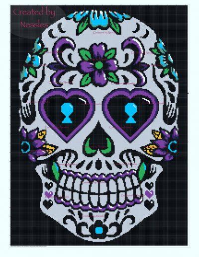Purple_Sugar_Skull_Graph_Nessles