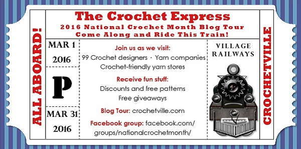 The Crochet Express: 2016 NatCroMo Blog Tour Daily Giveaway Schedule