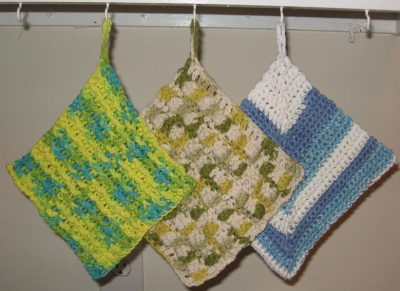 Three Crochet Dishcloths | Andrea Lyn Van Benschoten