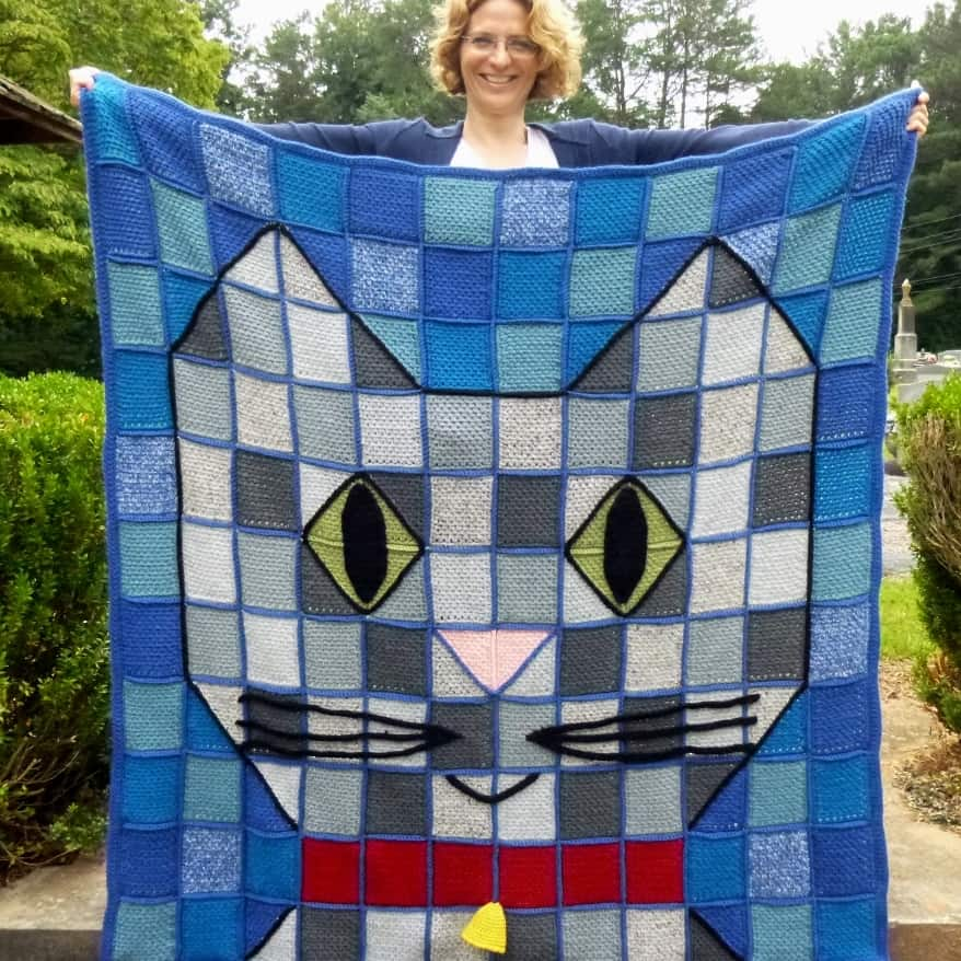 Kitty Cat Blanket | Darleen Hopkins