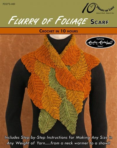 Flurry of Foliage Scarf | George Shaheen | 10 Hours or Less