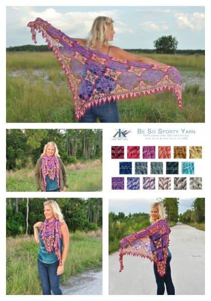 Majestic Skies Crochet Motif Shawl | Kristin Omdahl