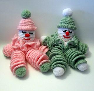 Clownie the Crocheted Clown Doll | Phyllis Serbes