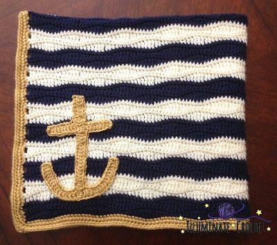 Nautical Baby Blanket | Sara Leighton | Illuminate Crochet
