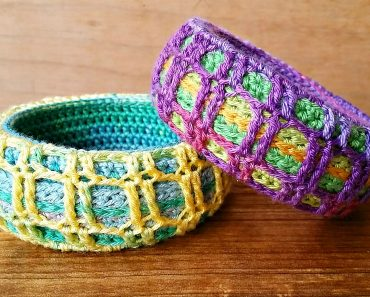 Shelby Allaho's National Crochet Month Freebie Pattern Bangle