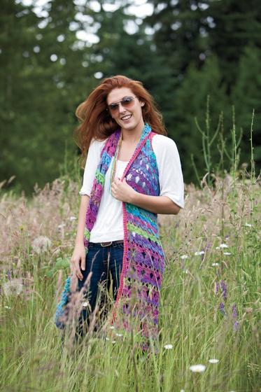 Amelia Broomstick Lace Long Vest | Tammy Hildebrand | Hot Lava Crochet